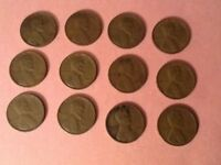LINCOLN WHEAT CENT PENNIES - 1930S - 12 COIN LOT 1
