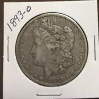 1893-O MORGAN SILVER DOLLAR, VF DETAILS