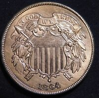 1864 2C TWO CENT PIECE  GREAT DETAIL