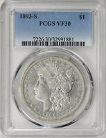Click now to see the BUY IT NOW Price! 1893 S MORGAN SILVER DOLLAR PCGS VF30   KING OF THE MORGANS   FINE 30