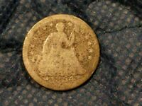 1854 SEATED LIBERTY HALF DIME KM:76 FR COND