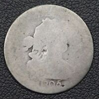 1805 DRAPED BUST SILVER DIME - BENT