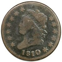 1810/09 S 281 CLASSIC HEAD LARGE CENT COIN 1C