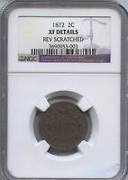 1872 TWO-CENT PIECE NGC EXTRA FINE  DETAILS 3690953-003