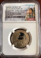 2017 S SACAGAWEA SEQUOYAH $1 NGC PF 69 ULTRA CAMEO EARLY RELEASES NEAR PERFECT