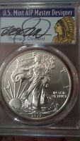 2017-W SILVER EAGLE PCGS MS70 CLEVELAND FIRST DAY OF ISSUE FDOI INDIAN POP 250