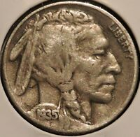 BUFFALO NICKEL   1935 S   $1 UNLIMITED SHIPPING