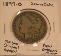 1897 O MORGAN SILVER DOLLAR OLD ESTATE NEW ORLEANS MINTED  DATE