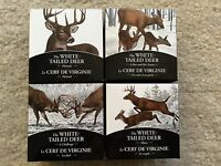 2014 CANADA   THE WHITE TAILED DEER 4X 1OZ SILVER PROOF COIN COLLECTION