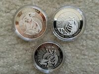2013 2014 UNTAMED CANADA 3X1OZ SILVER PROOF COINS ARCTIC FOX PRONGHORN WOLVERINE