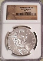 2009 P LINCOLN BICENTENNIAL NGC MS 69 US COMMEMORATIVE SILVER DOLLAR $1 COIN UNC