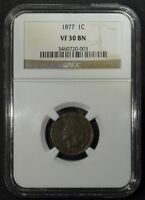 Click now to see the BUY IT NOW Price! 1877 INDIAN HEAD CENT NGC VF30   KING OF THE INDIAN HEAD CENTS