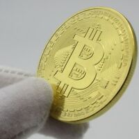 COMMEMORATIVE BITCOIN COIN ART PHYSICAL COLLECTIBLE BTC GIFT GOLD PLATED