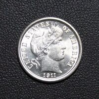 1911 BARBER SILVER DIME  GORGEOUS   PRICE REDUCED