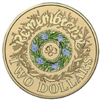 AUSTRALIA 2017 $2 DOLLAR REMEMBRANCE DAY COLOR COIN WW2 RAM