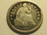 1853 P ARROWS SEATED LIBERTY HALF DIME ROUGH