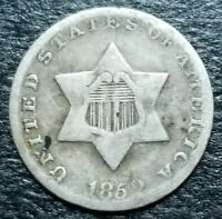 1852 3C CENT SILVER