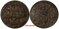 SWEDEN CHRISTINA  1632 1654  COPPER 1633 1/4 ORE  DATE  KM152.1  10263