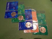 2000 SYDNEY OLYMPIC UNCIRCULATED $5 COINS X 5 DIFFERENT