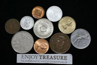 WORLD COINS USEFULL LOT LACQUERED FOR PRESERVATION A72 ZM10