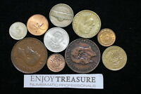 WORLD COINS USEFULL LOT LACQUERED FOR PRESERVATION A72 ZA9