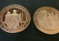 WASHINGTON TAKES LEAVE OF HIS OFFICERS 1783 & 1784 PEACE TREATY BRONZE MEDAL BB
