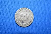 1897 STRAITS SETTLEMENTS 10C TEN CENTS SILVER COIN. 0.800 SI
