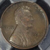 1914 D LINCOLN WHEAT CENT PENNY PCGS VF35   KEY DATE