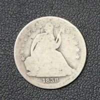 1838 SEATED LIBERTY SILVER DIME