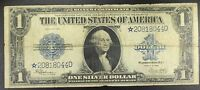 STAR         1923 $1.00 SILVER CERTIFICATE LEGAL TENDER LARGE SIZE STAR NOTE