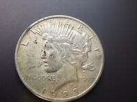 1923 P  PEACE DOLLAR   STRONG XF    UNCLEANED    90  SILVER   FAST SHIP   LOT 79