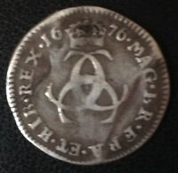 1676 CHARLES II MAUNDY THREEPENCE SILVER COIN