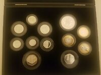 2009 SILVER PROOF COIN SET INCLUDES KEW GARDENS 50P