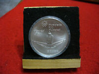 1976 MONTREAL OLYMPICS SILVER 5$ COIN CANADA   ROWING   B.U.