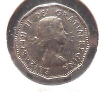 CIRCULATED 1960 5 CENT CANADIAN COIN   62915
