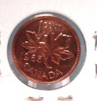 CIRCULATED 1965 1 CENT CANADIAN COIN