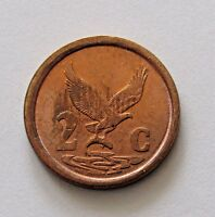 SOUTH AFRICA 2 CENTS 1991   FREE DOMESTIC SHIPPING