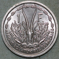 FRENCH EQUATORIAL AFRICA 1 FRANC 1948   UNCIRCULATED COMBINED S.& H.