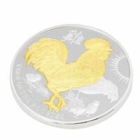 2017 YEAR OF THE ROOSTER ELIZABETH II 1OZ COMMEMORATIVE COINS GOLD AND SILVER