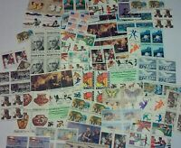 UNUSED 100 ASSORTED MIXED MULTIPLES & SINGLES OF 13 US POSTAGE STAMPS FV $13.00
