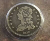 1836 CAPPED BUST 25 CENTS    MINTAGE ONLY: 472 000 COINS   HARD TO FIND    518