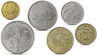 SEYCHELLES CURRENCY SET 6 COINS 1 5 10 25 CENTS 1 5 RUPEES UNC
