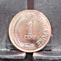 CIRCULATED 1976 1 CENT SINGAPORE COIN  120917 1 ..