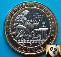 1999  GIBRALTAR 2 TWO POUND LABOURS OF HERCULES THE AUGEIAS STABLE COIN