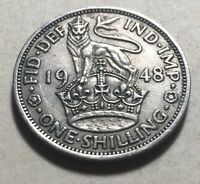 GREAT BRITAIN  UK  1948 ONE SHILLING COIN   KING GEORGE VI