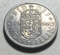 GREAT BRITAIN  UK  1966 ONE SHILLING COIN   QUEEN ELIZABETH
