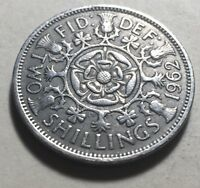 GREAT BRITAIN  UK  1962 ONE FLORIN  TWO SHILLINGS  COIN   QU