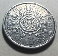 GREAT BRITAIN  UK  1964 ONE FLORIN  TWO SHILLINGS  COIN   QU