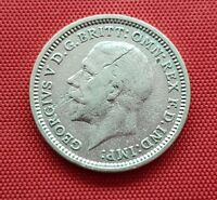 GREAT BRITAIN SILVER ERROR COIN  3 PENCE 1935  .500  GEORGE