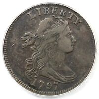 1797 S-120B R-2 PCGS VF 20 REV OF '96 DRAPED BUST LARGE CENT COIN 1C